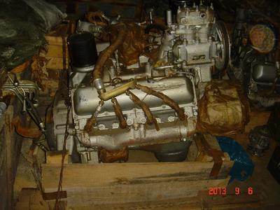 Двигатель Урал 375, ЗиЛ 509 бензиновый в сборе с КПП