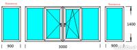 Пример балкон пвх 6 метров..