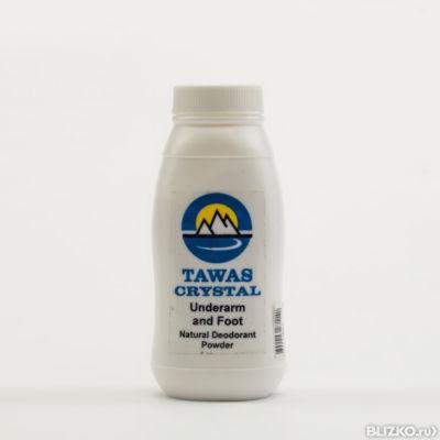 Спрей с сухими гранулами подарочный в упаковке из сетки из пальмы абака tawas crystal