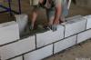 Монтаж стен из пеноблоков