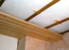 Монтаж блокхауса на потолок по каркасу