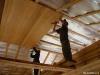 Монтаж деревянной вагонки на потолок по каркасу