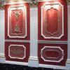 Шлифовка, шпатлёвка, грунтовка и окраска полиуретановых элементов на стене