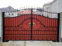 Железные ворота на заказ в пятигорске воротажелезные распашные