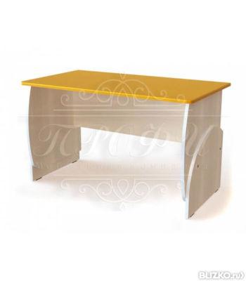 Мдм-10 стол мдф глян письменный маугли береза/ оранж в санкт.
