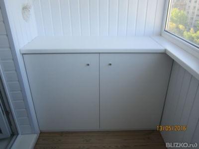 Белый шкаф из лдсп на балкон или лоджию от компании дм-пром .