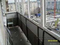 Остекление балкона, алюминиевые распашные рамы - 3 метра в к.
