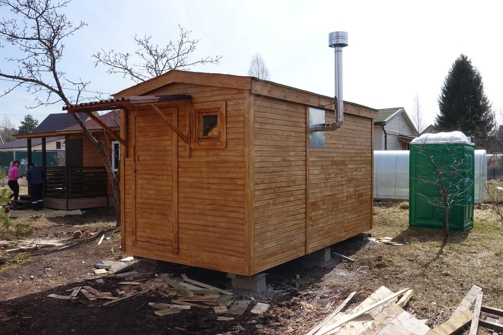 строительство бани перевозная готовая
